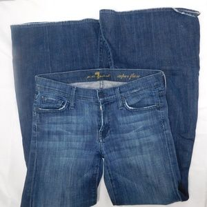 7 For All Mankind Womens Denim Blue Flare Jeans